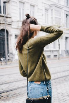 POLIENNE by Paulien Riemis | wearing a MONKI coat, OLIVE knit, LEVI'S denim, MANGO loafers & COACH bag
