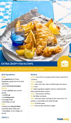 It's the weekend. Treat yourself with some extra crispy fish and chips. You've earned your Fast Food Friday! Cheese Dip Recipes, Fish Recipes, Seafood Recipes, Dinner Recipes, Cooking Beef, Easy Cooking, Cooking Recipes, Taste Recipe, Rice Side Dishes