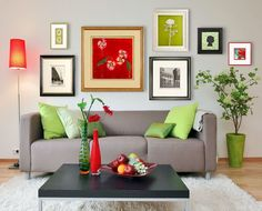 Integrate multiple frames as one installation :) Larson-Juhl Custom framing Wall Groupings, Frames On Wall, Colorful Frames, Fur Decor, Wall Decor, Living Spaces, Living Room, Mid Century House, Home Decor Items