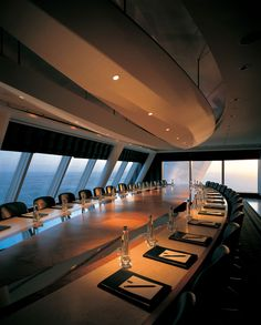 Boardroom on a super luxury yacht. Executive Travel : The Wealth Advisory is an independent investment advisory firm. http://www.thewealthadvisory.co.uk