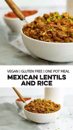 Mexican rice and lentils are a satisfying, inexpensive, and simple dinner recipe! This one-pot healthy meal is gluten free, vegan, low fat and full of flavor. With only a handful of ingredients, this simple Mexican inspired dish is ready in about 30 minutes and requires very little work. Perfect for meal prep too!
