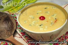 Sopa Creme de Frango com Alho Poró » Aves, Receitas Saudáveis, Sopas » Guloso e Saudável