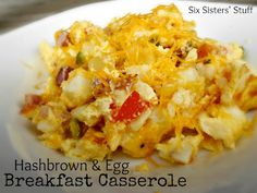 Hashbrown and Egg Breakfast Casserole from SixSistersStuff.com - I make this for breakfast and dinner!