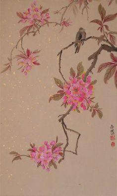цветение-4.jpg   Людям доставляло эстетическое наслаждение созерцание ярких, изящных и утонченных цветов персика: они напоминали лицо красавицы. Цветы персика воспеты в бесчисленном множестве стихов китайских поэтов и в картинах живописцев.
