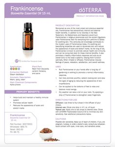doterra frankincense  uses | Read these ideas from doTERRA of 15 Ways to Use Frankincense .