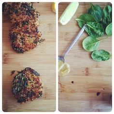 kale and quinoa cakes:  breakfast lunch and dinner. #AndersonEatsKale