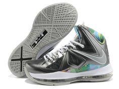 LeBron X Prism Black Strata Grey White 541100 004 for sale 555d148dd376
