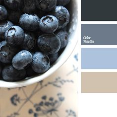 Shades of blue and deep blue always look beautiful in the combination with gray and white. This color solution will look very advantageous in a kitchen or.