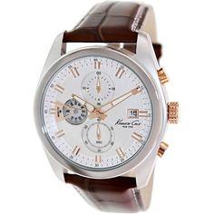 Kenneth Cole Men's Dress Sport KC8042 Brown Leather Quartz Watch