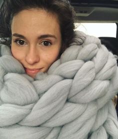 a7a01a1c9d760c BeCozi Chunky Knit Merino Wool Blankets