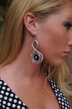 Swarovksi Crystal Earrings with Black.