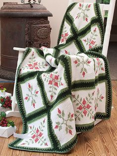 Tunisian crochet, or the afghan stitch, is a crochet technique that gives the appearance of knitting. Combine that with a pattern embroidered on top and you have a beautiful work of art. These six lov