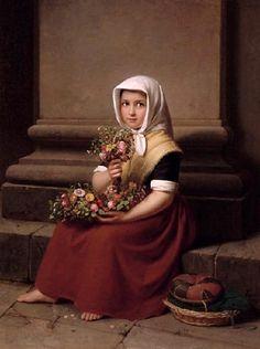 Boser, Karl Friedrich (b,1811)- Flower Girl