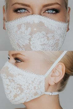 Coronavirus and face mask. Fitted lace multilayer face mask featuring a corded lace sparkle tulle underlay and delicate lace trim. Two adjustable straps ensure comfort and security while wearing. Now thats an aMAYzingmask Diy Mask, Diy Face Mask, Homemade Face Masks, Maskcara Beauty, Lace Mask, Mask Design, Fashion Face Mask, Sewing Patterns Free, Free Pattern