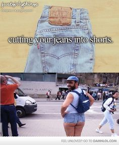 Cutting Your Jeans Into Shorts