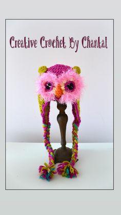 Crochet Owl Hat, Crochet Necklace, Creative
