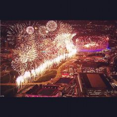 Closing ceremony of the Olympic opening ceremony Stratford, London....