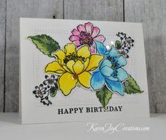 Handmade Birthday Card with Altenew Garden Treasures and Hero Arts Birthday Messages
