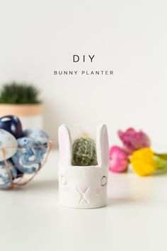 DIY Mini Cacti Bunny Planter tutorial | @fallfordiy