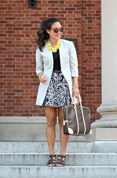 Chic of the Week: Grace's Floral Office Outfit   LaurenConrad.com