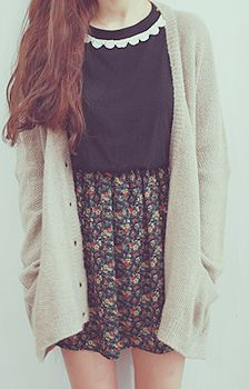 floral skirts and cardigans