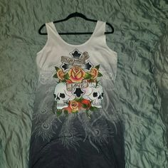 Ed Hardy Dress Up for sale is a dress by Ed Hardy. The size is XL. It has a beautiful peacock on the back. Ed Hardy Dresses