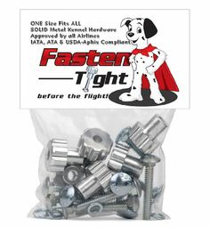 Fasten Tight Kennel Hardware - Silver-8-pack - http://www.thepuppy.org/fasten-tight-kennel-hardware-silver-8-pack/