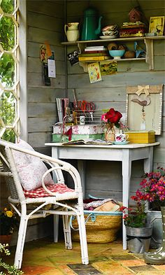 Work in progress~office space in a summer-shed