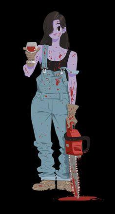 https://www.behance.net/gallery/20854143/Chainsaw-girl