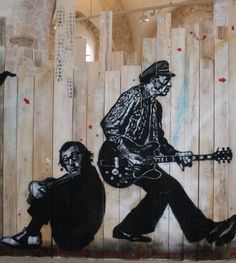 French artist Jef Aerosol does Woody Allen & Chuck Berry!