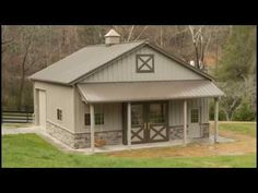 Morton Buildings garage in Knoxville, Tennessee. More Morton Buildings garage in Knoxville, Tennessee. Metal Pole Barns, Metal Barn Homes, Pole Barn Homes, Metal Shop Building, Building Design, Building A House, Building Ideas, Metal Shop Houses, Barn Houses
