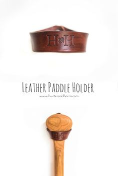 Why not show off your canoe paddle with our genuine leather paddle holder. This beautiful rich brown leather will complement any paddle. Canoe Paddles, Woodworking Ideas, Leather Working, Wood Crafts, Brown Leather, Cottage, Craft Ideas, Decorations, How To Make