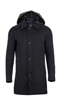 Elegant black coat for Spring from #Strellson