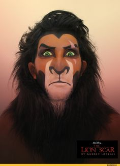 грим,lion king,Шрам,бодиарт