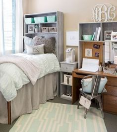 College Dorm Room Organization Ideas (25)