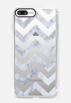 MARBLE CHEVRON DARK by Monika Strigel iPhone 7 Plus Case by Monika Strigel | Casetify