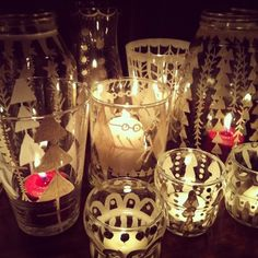 faux etched glass DIY