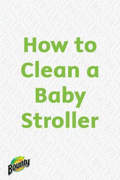 Taking the time to clean your baby's stroller is important to his or her health. Many germs accumulate on the stroller from outdoor debris, sticky hands, or food particles. Use Bounty Paper Towels, liquid detergent, and baking soda to disinfect and wipe clean this important child's tool.