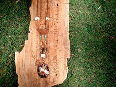 Aventurine Copper Wood Bone Howlite and Shell by mirabiliajewelry