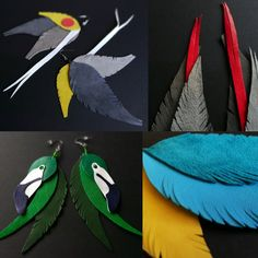 Diy Leather Earrings, Diy Earrings, Feather Vector, Colorful Feathers, Silhouette Design, Just Giving, Leather Craft, Knitted Hats, Cricut
