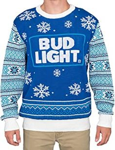 Ugly Christmas Sweater - Ideas that Win all the Ugly Sweater Contests Ugly Sweater Contest, Best Ugly Christmas Sweater, Bud Light Beer, Movie Shirts, Hoodies For Sale, Red Hats, Blue Sweaters, Cool Outfits, Fashion Outfits