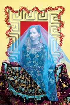 "Ph: Ilona Szwarc. Valentino embroidered gown. ""...the spectacle of nativity."" (New York magazine, May 19, 2014)"