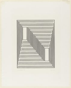 To Monte Alban from the series Graphic Tectonic - Josef Albers (American, born Germany. Somewhat op art to show kids Illusion Kunst, Illusion Art, Op Art, Joseph Albers, Geometric Art, Optical Illusions, Line Art, Art Drawings, Graffiti