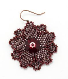 Flower component - very nice tute with complete pix and verbage. (needs Trans) #seed #bead #tutorial