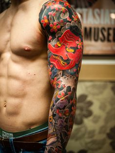 tengu irezumi japanese tattoo - love these colors.