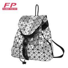 88389f75a39b New BaoBao Luminous Backpacks Female Fashion Girl Daily Backpack Geometry  Package Sequins Folding Bags Bao Bao