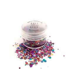 Dust and Dance Clown Multi Colour Chunky Festival Face Hair Glitter Pot