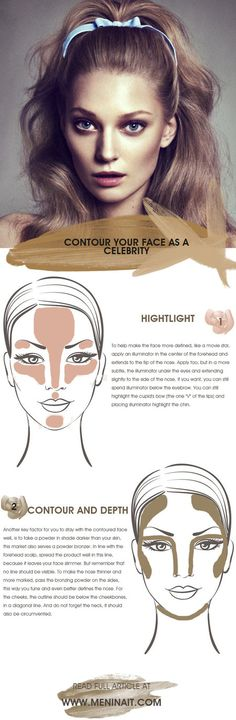 How to contour the face like a celebrity!
