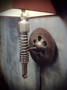 Upcycled decor ideas | Upcycled Automotive Lamp by Classified Moto | Design Concept Ideas