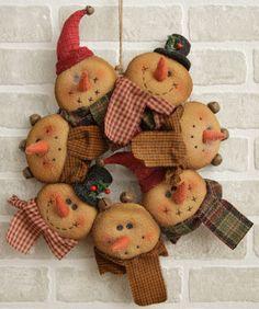 Snappy Snowman - Wreath
